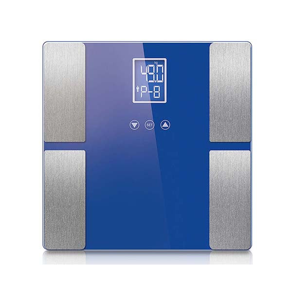 Soga Blue Digital Body Fat Scale Weight Gym Glass Water Lcd Electronic