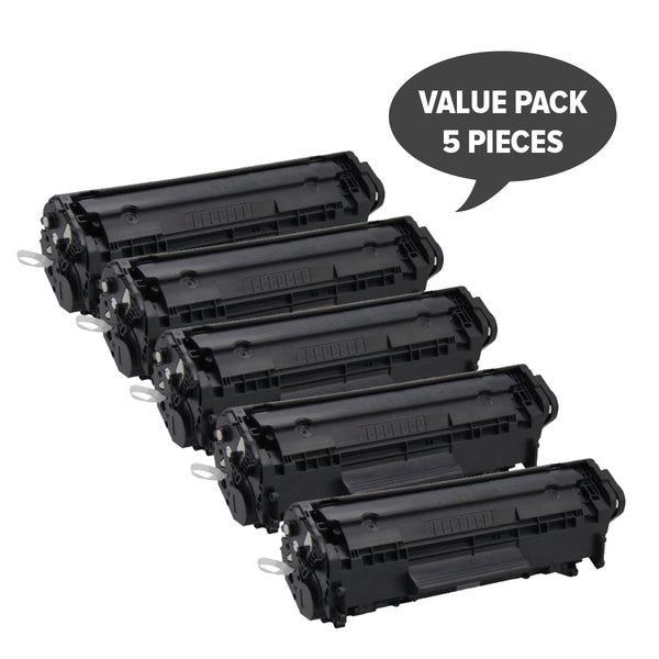 Q2612A 12A Cart-303 Premium Generic Toner (Set of 5)
