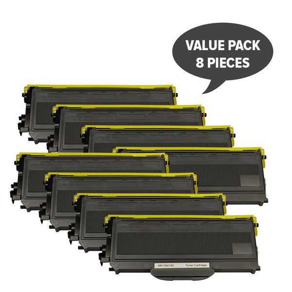 TN-2150 TN360 Black Premium Toner (Set of 8)