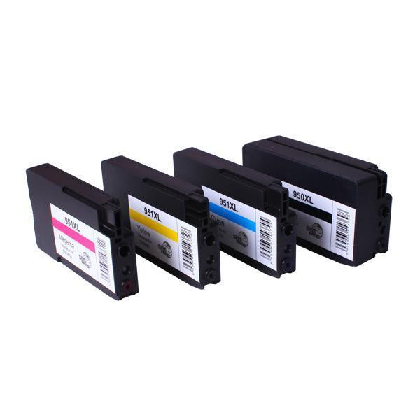 950XL 951XL Premium Compatible Inkjet Cartridge Set 4 Cartridges
