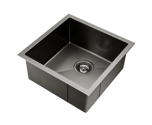 Kitchen Sink with Waste Strainer Black 44 X 44