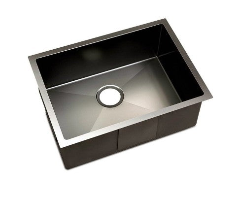 Kitchen Sink with Waste Strainer Black - 60 x 45cm – Simply Wholesale