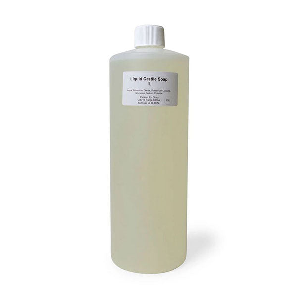 1L Liquid Castile Soap Pure Unscented Natural Vegetable Base