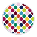 Multi Colored Dots Beach Towel