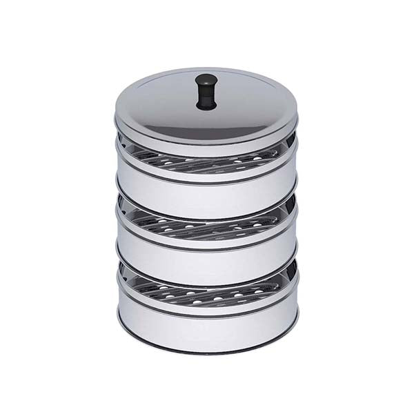Soga 3 Tier 22Cm Stainless Steel Steamers Lid Work Pot Steamers
