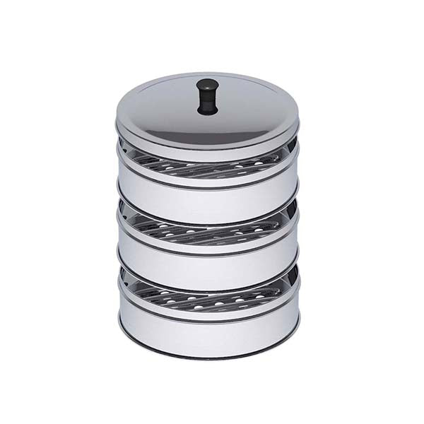 Soga 3 Tier 28Cm Stainless Steel Steamers With Lid Work Pot Steamers