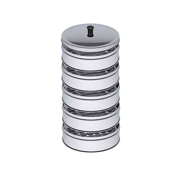 Soga 5 Tier 28Cm Stainless Steel Steamers With Lid Work Pot