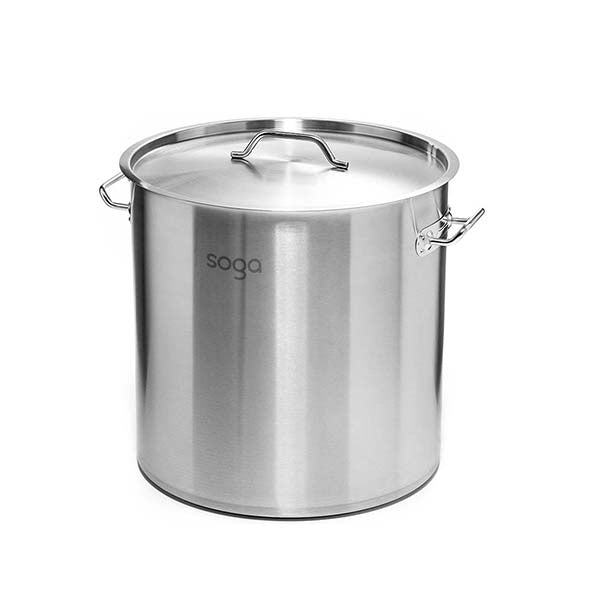 Soga Stock Pot 98L Top Grade Thick Stainless Steel Stockpot