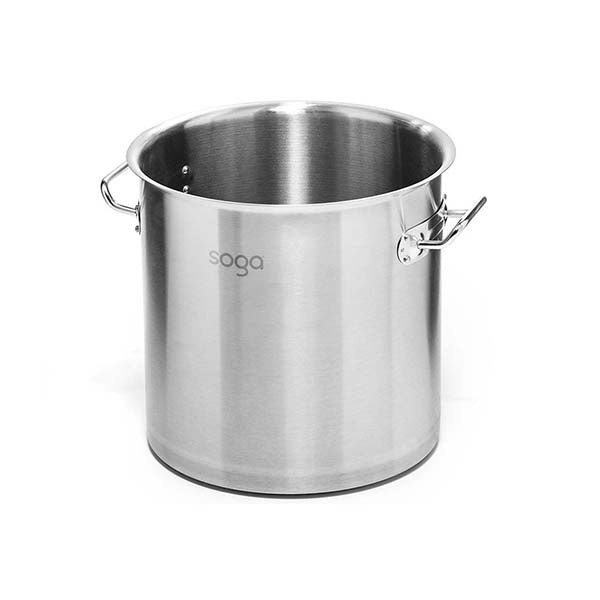 Soga Stock Pot 98L Top Grade Thick Stainless Steel Without Lid