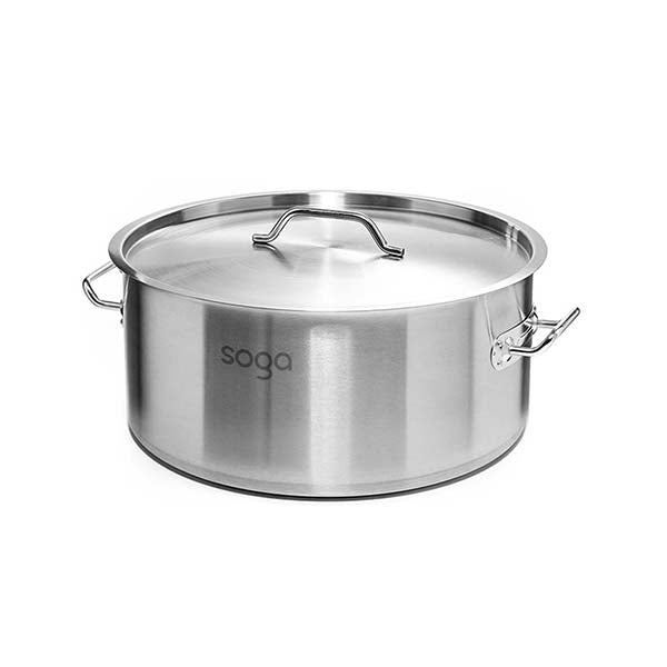 Soga Stock Pot 32L Top Grade Thick Stainless Steel Stockpot