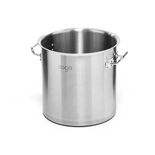 Soga Stock Pot 12L Top Grade Thick Stainless Steel Without Lid