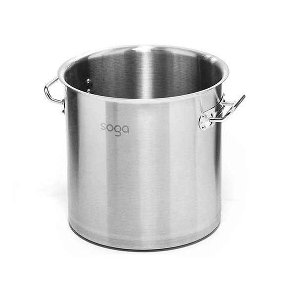 Soga Stock Pot 50L Top Grade Thick Stainless Steel Without Lid