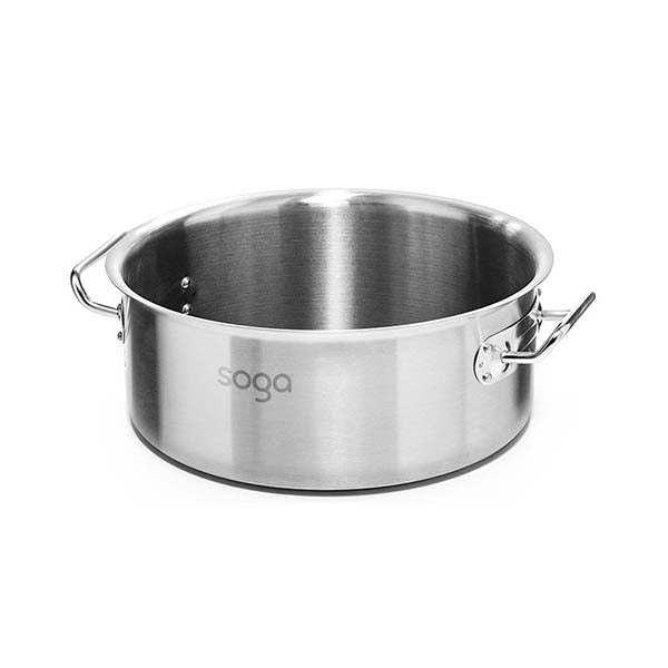 Soga Stock Pot 58L Top Grade Thick Stainless Steel Without Lid