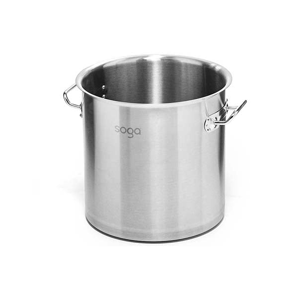 Soga Stock Pot 130L Top Grade Thick Stainless Steel Without Lid