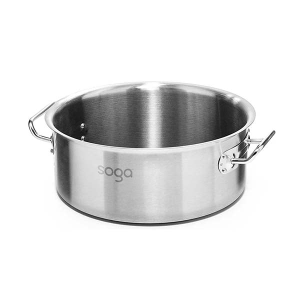 Soga Stock Pot 23L Top Grade Thick Stainless Steel Without Lid