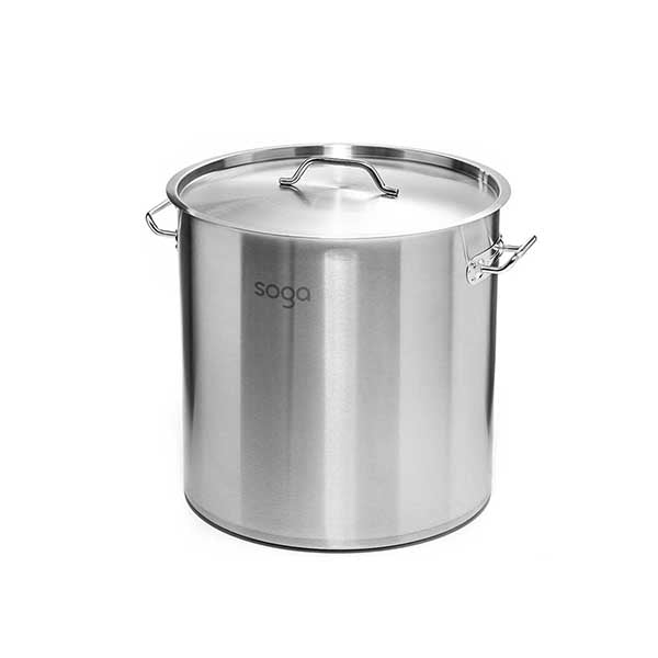 Soga Stock Pot 130L Top Grade Thick Stainless Steel