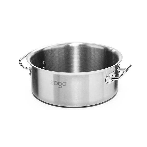 Soga Stock Pot 44L Top Grade Thick Stainless Steel Without Lid