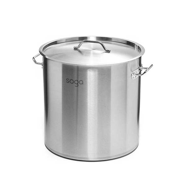 Soga Stock Pot 50L Top Grade Thick Stainless Steel Stockpot