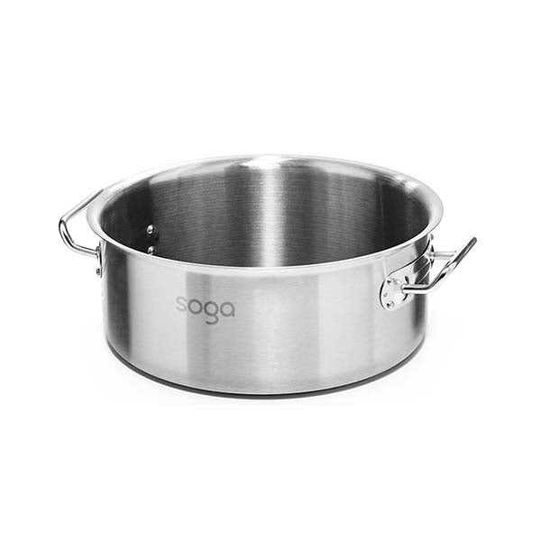 Soga Stock Pot 32L Top Grade Thick Stainless Steel Without Lid