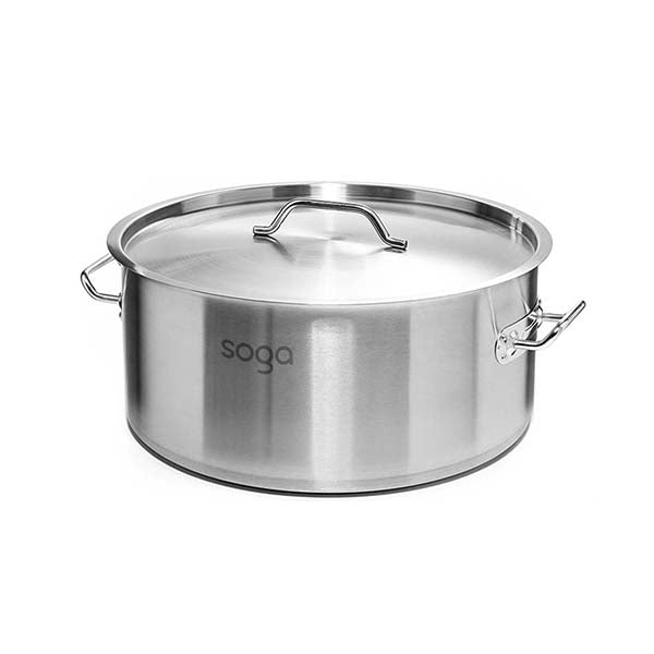 Soga Stock Pot 23L Top Grade Thick Stainless Steel Stockpot