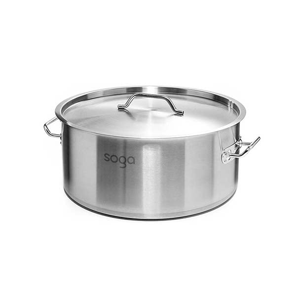 Soga Stock Pot 44L Top Grade Thick Stainless Steel Stockpot