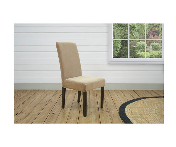 Stretch Pearson Dining Chair Cover Dark Flax