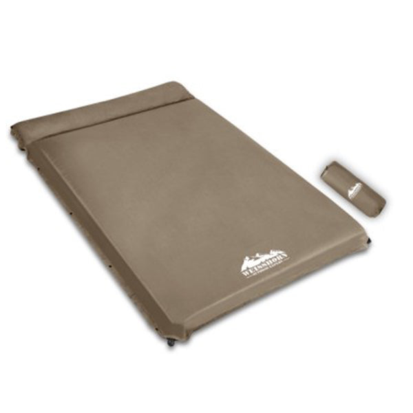 Self Inflating Mattress 10cm Thick Double Size Coffee