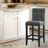 Set of 2 French Provincial Dining Chair Charcoal - Grey