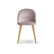 Set of 2 Velvet Modern Dining Chair - Light Grey
