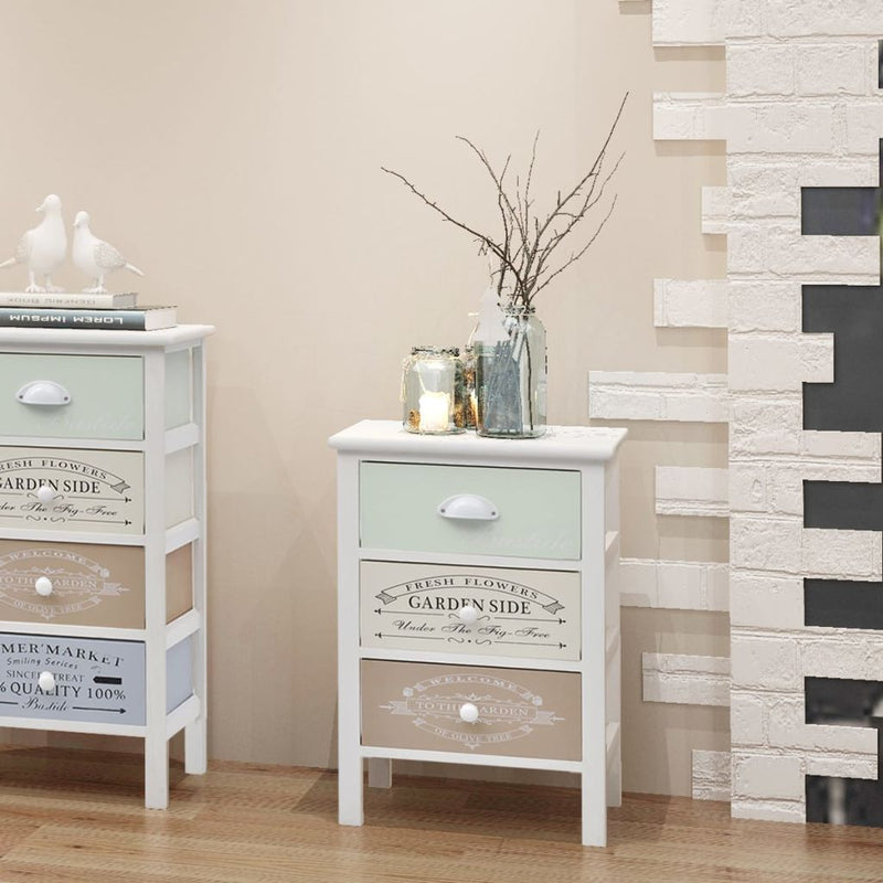 Shabby Chic French Storage Cabinet 3 Drawers Wood
