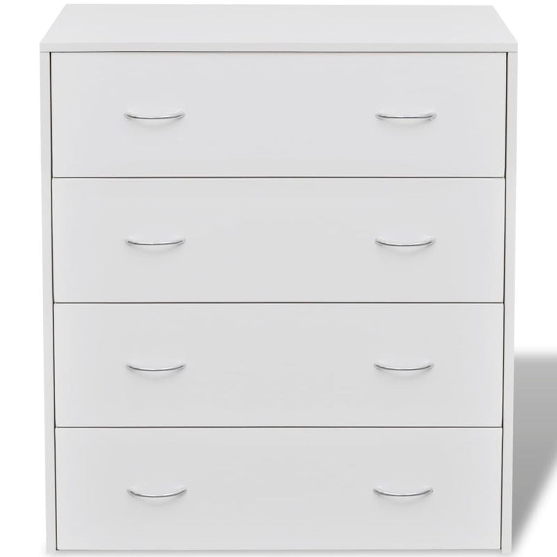Sideboard With 4 Drawers 60 x 30.5 x 71 Cm - White