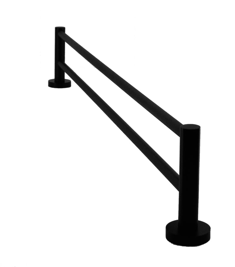 Single Classic Towel Bar Rail Electroplated Matte Black Finish