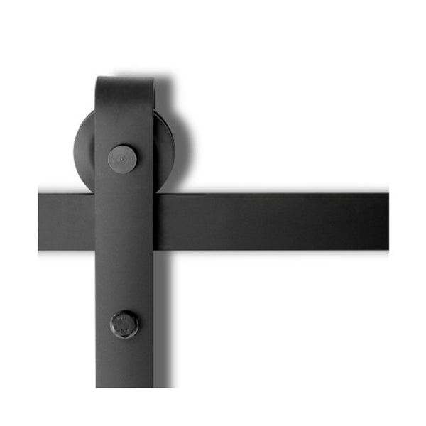 Sliding Barn Door Hardware Track Set Powder Coat Steel Black