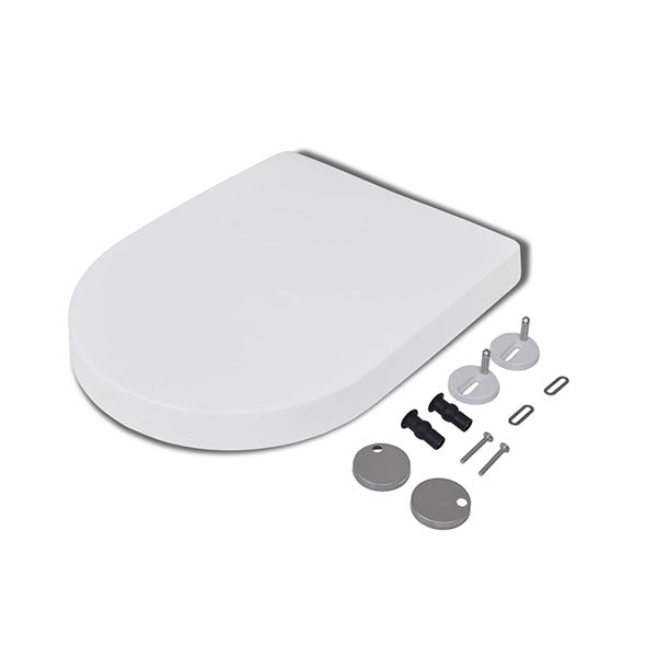 Soft Close Toilet Seat With Quick Release Design White Square