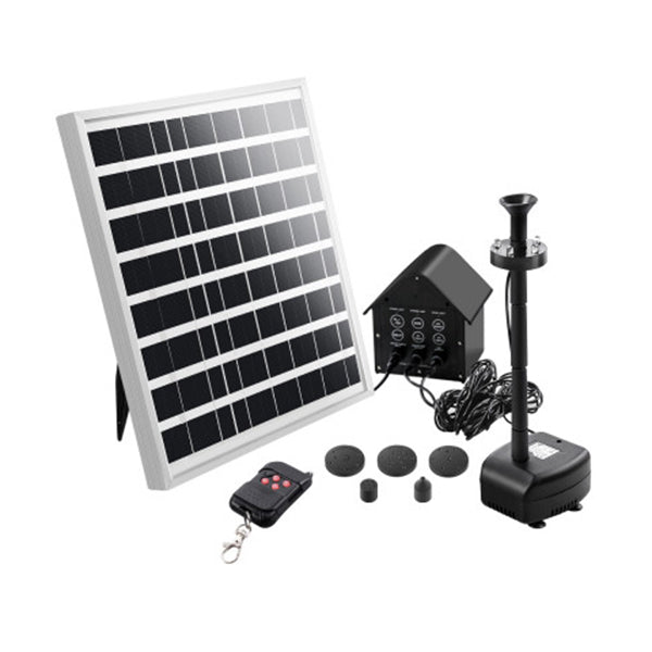 Solar Pond Pump With Battery Water Fountains Panel Led Light