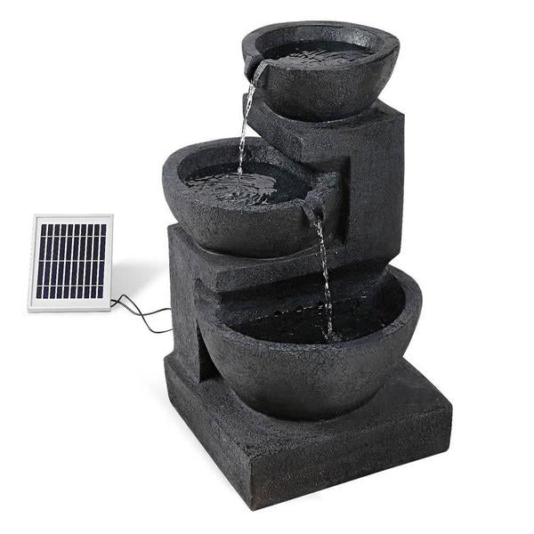 Image of Solar Fountain with LED Lights