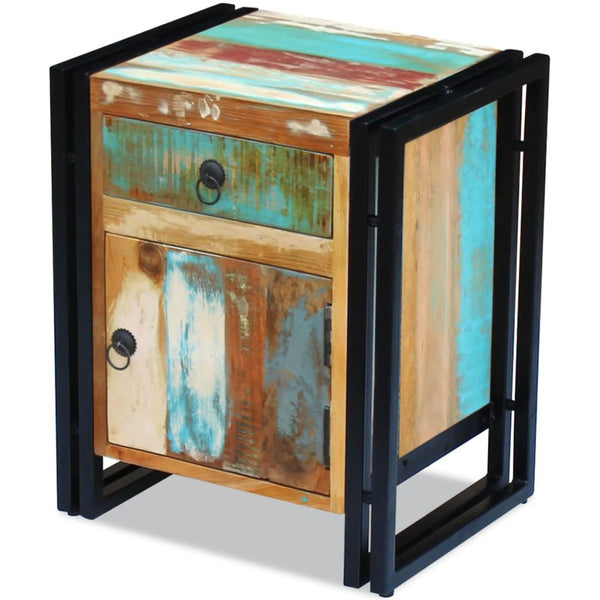 Solid Reclaimed Wood Bedside Cabinet