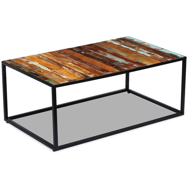 Solid Reclaimed Wood Coffee Table 100cm x 60cm x 40cm