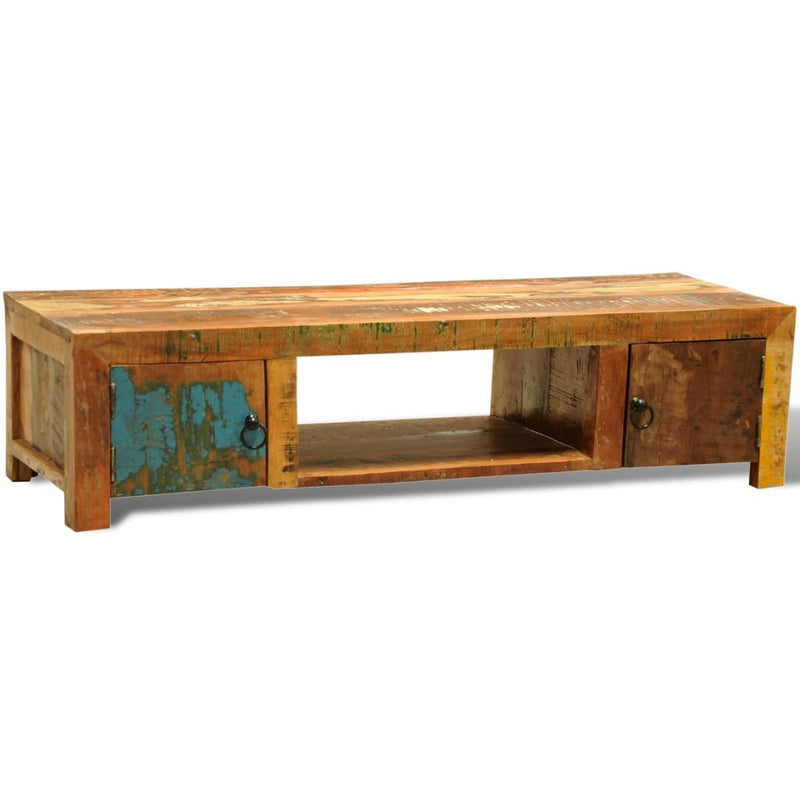 Solid Reclaimed Wood TV Cabinet with 2 Doors