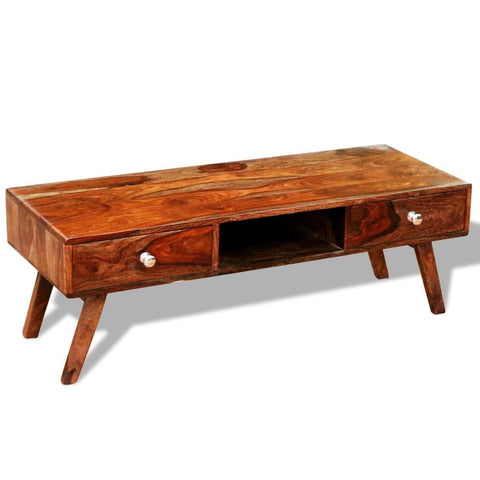 Solid Sheesham Wood TV Cabinet-Sideboard with 2 Drawers