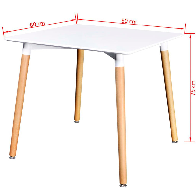 Square Dining Table - Matte White