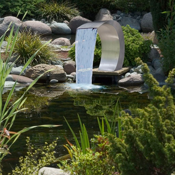 Stainless Steel Garden Waterfall/ Pool Fountain