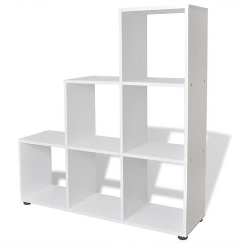 Staircase Bookcase / Display Shelf 107 Cm - White 242552