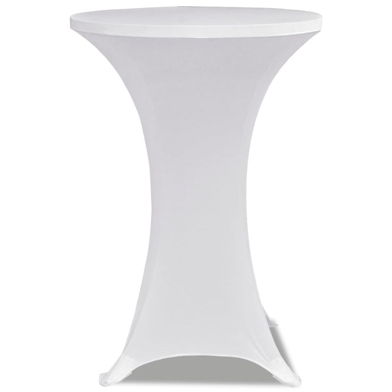 Standing Table Cover Stretch (2 Pcs) - White
