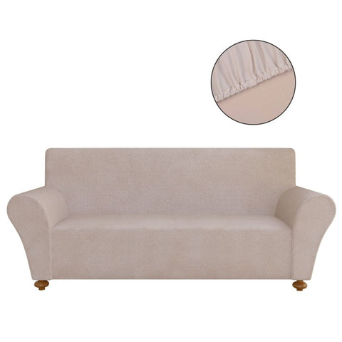 Stretch Couch Slipcover Polyester Jersey - Beige 131090