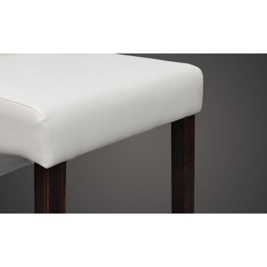 Synthetic Leather Dining Chairs (2 Pcs) - White