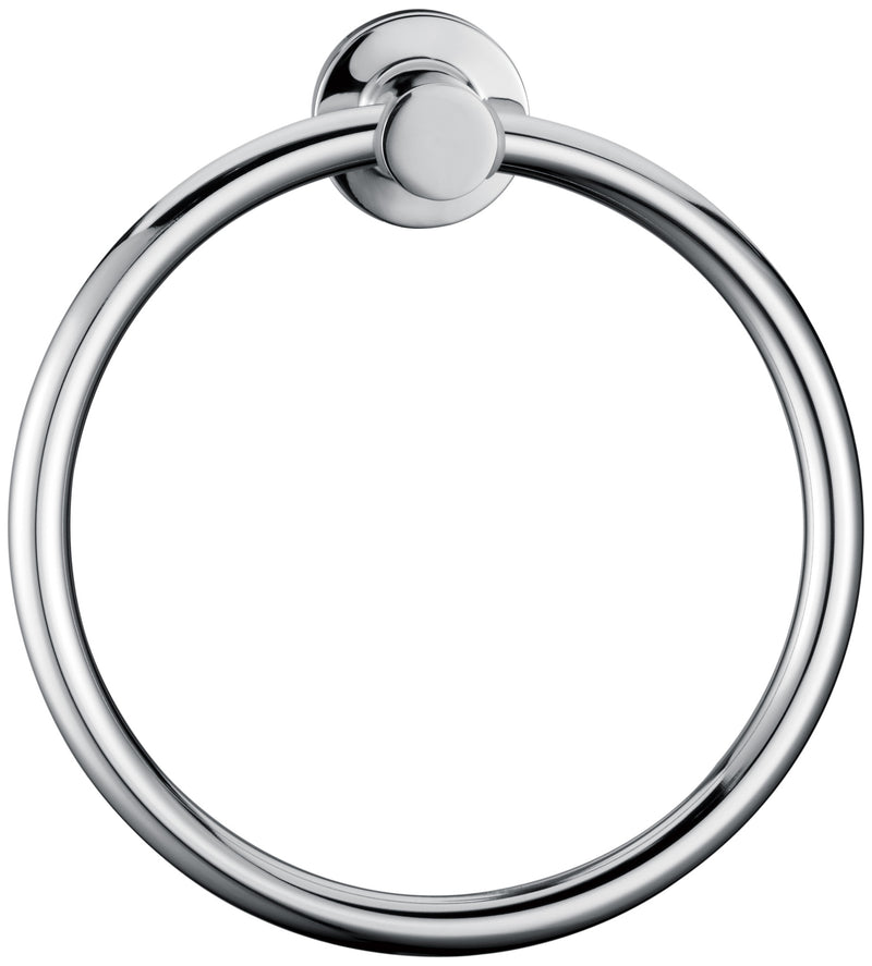 Classic Chrome Towel Bar Rail Ring
