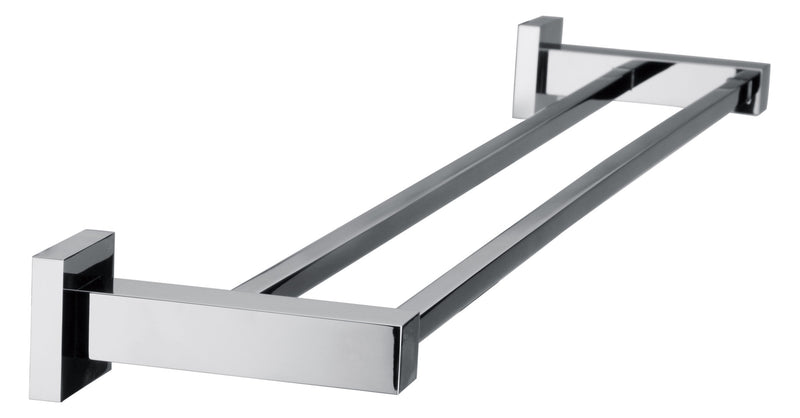 Double Classic Chrome Towel Bar Rail