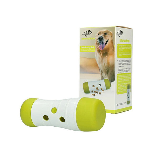 Dog Treat Frenzy Roll Interactive Toys Dispenser Feeder Toy