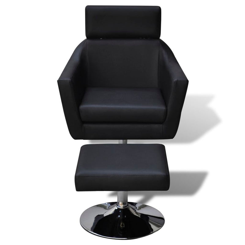 TV Armchair Artificial Leather - Black